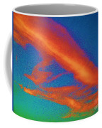 Abstract Red Blue And Green Sky Coffee Mug