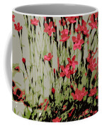Abstract Red Flowers Coffee Mug
