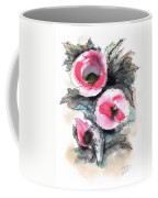 Abstract Red Poppies Coffee Mug
