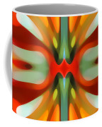 Abstract Red Tree Symmetry Coffee Mug by Amy Vangsgard