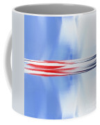 Abstract Red White And Blue Silver Rocket Square Coffee Mug