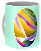 Abstract Rose Oval Coffee Mug by Will Borden