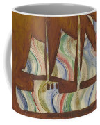 Abstract Sailboat Coffee Mug