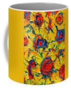 Abstract Sunflowers Coffee Mug