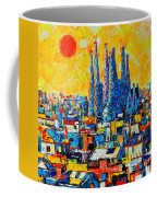 Abstract Sunset Over Sagrada Familia In Barcelona Coffee Mug