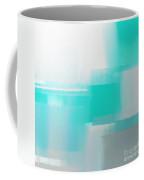Abstract Teal Square Coffee Mug