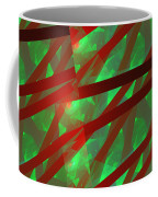 Abstract Tiled Green And Red Fractal Flame Coffee Mug by Keith Webber Jr