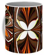 Abstract Triptych - Brown - Orange Coffee Mug
