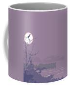 Abstract Tropical Birds Sunset Large Pop Art Nouveau Landscape - Middle Coffee Mug