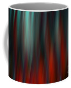 Abstract Vertical Red Green Blur Coffee Mug