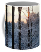 Abstract Winter Sunset Coffee Mug