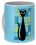 Abstract With Cat In Blue Coffee Mug