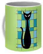 Abstract With Cat In Green Coffee Mug