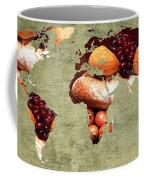 Abstract World Map - Harvest Bounty - Farmers Market Coffee Mug