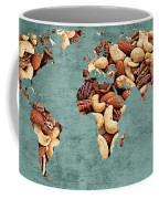 Abstract World Map - Mixed Nuts - Snack - Nut Hut Coffee Mug