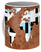Abstract World Map - Which Way Is Up - Painterly Coffee Mug