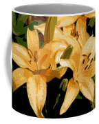 Abstract Yellow Asiatic Lily - 1 Coffee Mug
