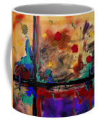 Abstract Yellow Horizontal Coffee Mug