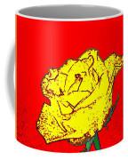 Abstract Yellow Rose Coffee Mug