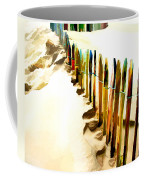 Abstracted March Of The Colored Dune Fence Coffee Mug