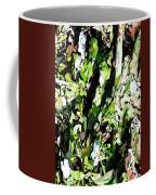 Abstraction Green And White Coffee Mug