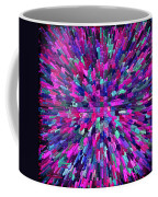 Abstrract Cubes Violet Coffee Mug