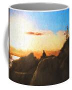 Acadia Bass Harbor Head Lighthouse Silhouette Coffee Mug
