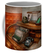 Accountant - Typewriter - The Accountants Office Coffee Mug by Mike Savad
