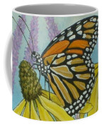 Aceo Monarch On Wild Grey Headed Coneflower Coffee Mug