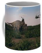Achelousaurus Walking Amongst Swamp Coffee Mug