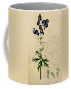 Aconitum Napellus By Sowerby Coffee Mug by Philip Ralley