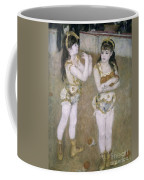 Acrobats At The Cirque Fernand Coffee Mug by Pierre Auguste Renoir