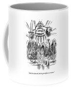Adam And Eve Are Seen Walking In The Garden Coffee Mug