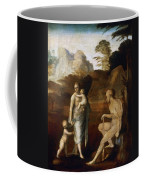 Adam And Eve With Cain And Abel Coffee Mug