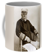 Admiral Of The Navy George Dewey Seen In 1899 On The Uss Olympia Coffee Mug