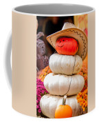 Adorable Cowboy Pumpkin Figures Made From Pumpkins Coffee Mug