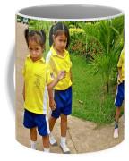 Adorable Sweethearts Welcoming Committee At Baan Konn Soong School In Sukhothai-thailand Coffee Mug