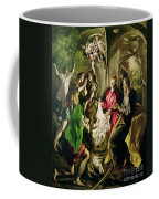 Adoration Of The Shepherds Coffee Mug by El Greco Domenico Theotocopuli