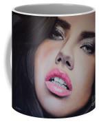 Adriana Lima Oil On Canvas Coffee Mug