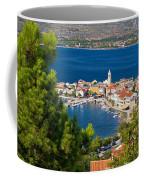 Adriatic Town Of Vinjerac Aerial View Coffee Mug