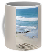 Adult Man Working On A Large Sand Coffee Mug