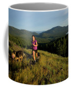 Adult Woman Trail Running Coffee Mug
