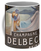 Advertisement For Champagne Delbeck Coffee Mug by Louis Chalon