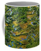 Aerial Of A Wetland, Over Northern Coffee Mug