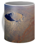 Aerial Of Meteor Crater Coffee Mug
