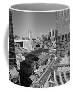 Aerial Photography Downtown Nashville Coffee Mug by Dan Sproul