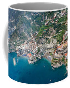 Aerial View Of A Town, Atrani, Amalfi Coffee Mug