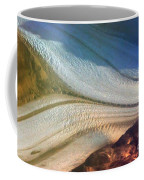 Aerial  View Of An Antarctica Glacier Flow Coffee Mug