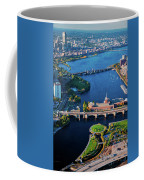 Aerial View Of Bridges Crossing Charles Coffee Mug