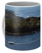 Aerial View Of Ferry Boats On Puget Sound One Leaving Bainbridge Coffee Mug